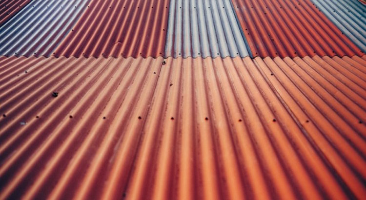 Coloured Metal Roof